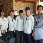 The great team at Oceans bar.