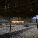 Karen Hill Tribe Lodge from the Rice Field
