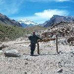 Quebrada de los Horcones, con el Coloso de fondo