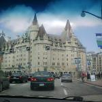 Coming onto Rideau ....the Chateau Laurier