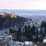 The Alhambra (left) Moorish quarter (front) and Granada (far right) from the hill just behind Ra