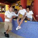 Bar staff at Mayan Princess