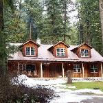 Rustic and country-style log house