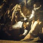 """Caravaggio """"Peter's Cricifixion"""" in San Luigi de Francesco"""