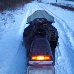 Direct snowmobile trail access from their back door!