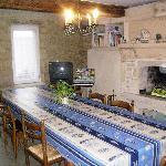 la salle à manger à disposition des hôtes