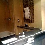 Our deluxe bathroom at Cheltenham Chase - exactly like the brochure!
