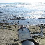 La playa de Santa Teresa cuenta con picina naturales, las que de dan una paz increíble