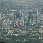 downtown Frankfurt from the air after takeoff