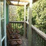 A deck on our cottage