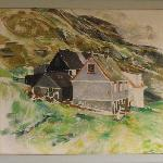 Ruth Smith, Painting of the village Nes in Suduroy.