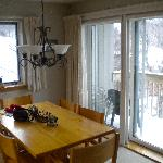 our dining room with slopes thro the window!