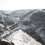 Le gole di Tipova d'inverno