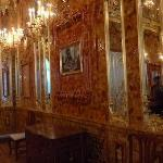 OMG, don't tell anyone, but this is a rare picture of the amber room (entire room made with Ambe