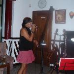 Debs the singing barmaid!
