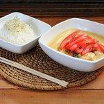 curry amarillo con arroz jazmin
