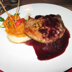 Pork Chop with fruit sauce