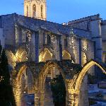 Avignon at night (one block from hotel)