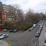 View from bedroom to Queens Square