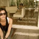Front of the hotel- Great neighborhood!!