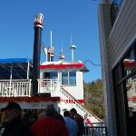 The stern wheeler at Branson Landing prior to boarding