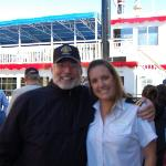 "Charlie and one of ""the crew"" of the stern wheeler"