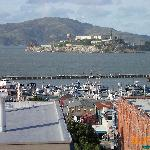 view of Alcatraz from roof-top patio