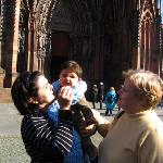 In front of Notre Dame Strasbourg