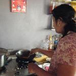 Nisha in her kitchen