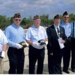 Me and other members of Post #54 for Memorial Day Tribute at the D-Day Memorial.