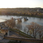 Rhone river from the Rocher des domes