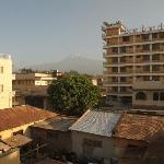 Blick vom Balkon Richtung Kili