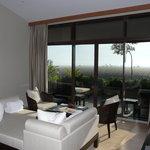 living room in villa