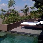 our private terrace and pool at the villa
