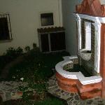 Courtyard fountain of hotel