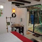 Bedroom with view of private Cynote Pool