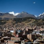 Panoramic view of Huaraz from our terrace.
