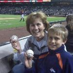 Bourn (Astros) threw a ball to me.  We both have one :-)