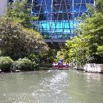 River walk boat tours going under the mall