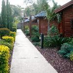 Walkway around the chalets