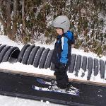 Kids at private ski lessons