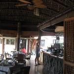 inside the restaurant area
