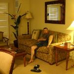 Our living room- shane is Just chillen