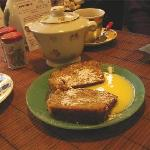 yummy chestnut cake servd with its homemade creme anglaise ;)