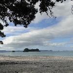 The nearby Hahei Beach