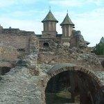 Castle ruins at Tirgoviste, Romania.