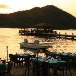 Dinner by the beach of El Rio y Mar