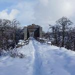 Covered railway bridge on Speyside Way
