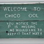 Keep the ool clean, please! Chico