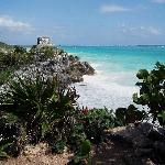 View from Tulum on the mainland